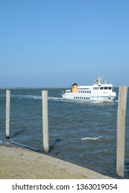 Ferry between Baltrum and Nessmersiel at North Sea,East Frisia,lower Saxony,Germany