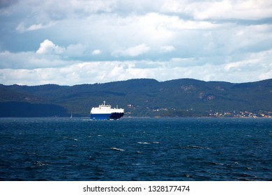 The ferry boat that connects Horten to Moss in Norway.