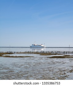 Ferry from Harlesiel to Wangerooge at North Sea,East Frisia,lower saxony,Germany