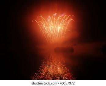 Ferry Meadows Firework display. Peterborough 2009.