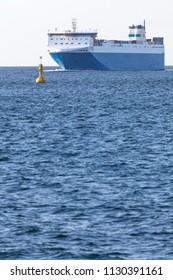 Ferry on the Baltic Sea near Kiel, Germany