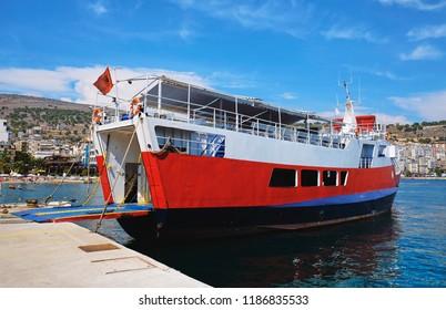Ferry in the port of Saranda, Albania