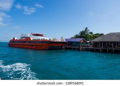 Ferry ride for Travel at Koh Kood, Trat Thailand. Nov 2018.