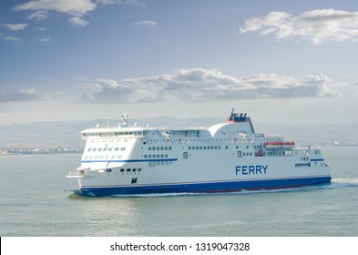 Ferry sailing between Calais and Dover