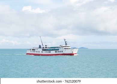ferry ship in the sea for background