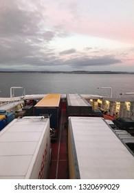 Ferry sky ocean