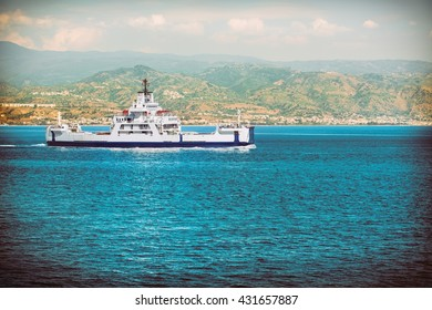 Ferry in southern Italy Messina.