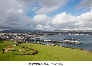Ferry Terminal and town Douglas Isle of Man