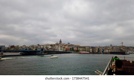 Ferry tour on Bosphorus, Galata Tower and empty city during the coronavirus pandemic / Istanbul, Turkey / 21 May 2020