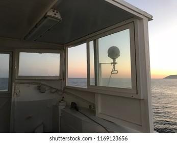 Ferryboat on sunset