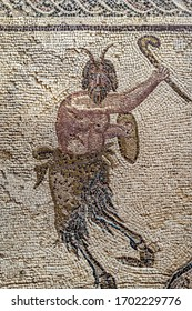 The fertility god Pan. Antique mosaic from the house of Dionysus. The third century BC. Pathos. Cyprus.