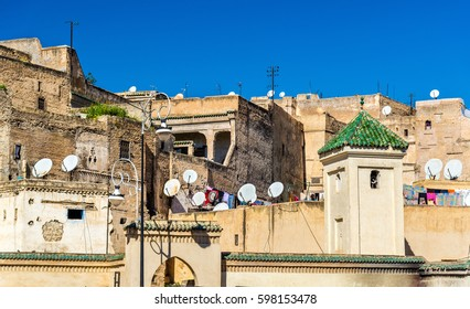 Fes el Bali, the oldest walled part of Fes. A UNESCO heritage site in Morocco