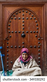 FES, MOROCCO - NOVEMBER 1, 2015: People of Fes Medina, Morocco
