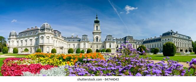 Festetics palace near lake Balaton in Keszthely, Hungary