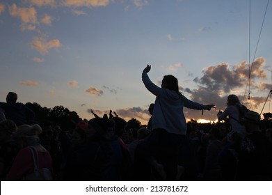 Festival Audience at Sunset