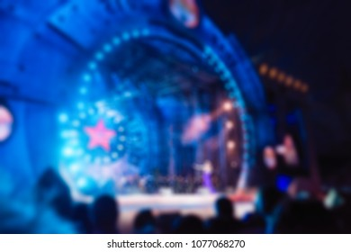 Festival concert show theme creative abstract blur background with bokeh effect