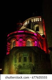 Festival of light in the old city of Jerusalem