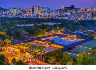 festival night lights at changgyeonggung palace seoul korea