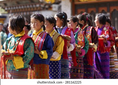 Festival of URA YAKCHOE, Bumthang, BHUTAN , Cira May 2015