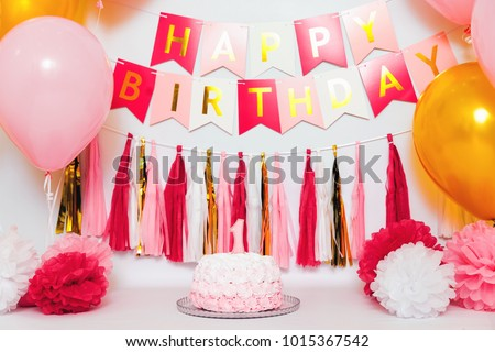 Festive Background Decoration Birthday Celebration Gourmet Stock