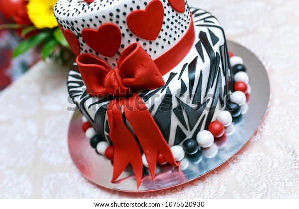 Superb Festive Birthday Cake Mini Anniversary Red Stock Photo Edit Now Funny Birthday Cards Online Unhofree Goldxyz