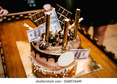 Groovy Money Birthday Cake Images Stock Photos Vectors Shutterstock Funny Birthday Cards Online Alyptdamsfinfo