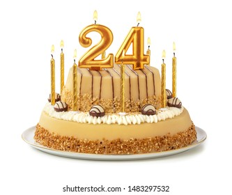 Pleasing 24 Birthday Cake Images Stock Photos Vectors Shutterstock Personalised Birthday Cards Veneteletsinfo