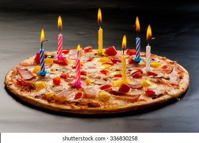 Strange Birthday With Pizza Images Stock Photos Vectors Shutterstock Birthday Cards Printable Benkemecafe Filternl