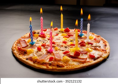 Phenomenal Birthday With Pizza Images Stock Photos Vectors Shutterstock Birthday Cards Printable Benkemecafe Filternl