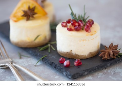 Festive Christmas cheesecake traditional winter cake recipe .