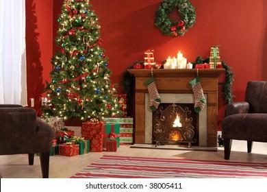Festive Christmas interior