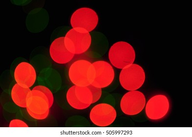 Festive Christmas lights out of focus