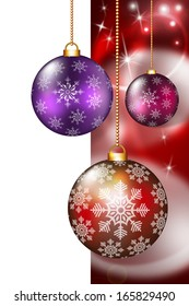 Festive Christmas and New Year decoration with ornaments