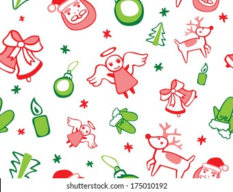 Festive Christmas Seamless Pattern