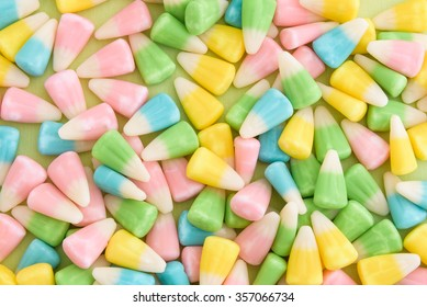 Festive Easter candy corn as a background