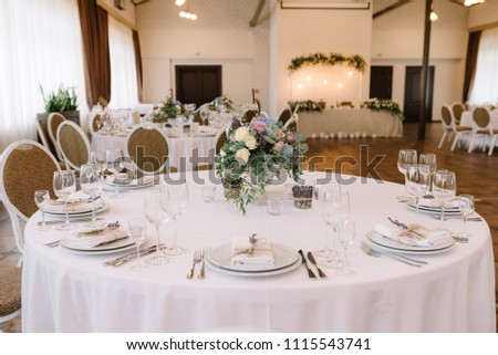 Festive Lunch Restaurant Wedding Table Guests Stock Photo Edit Now