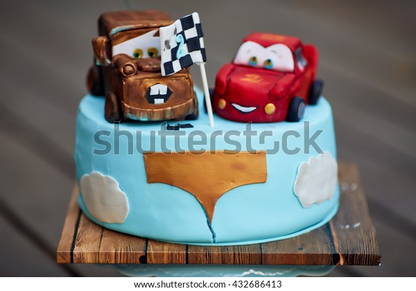 Super Festive Meals Mcqueen Mater Cars Cakes Stock Photo Edit Now Funny Birthday Cards Online Kookostrdamsfinfo