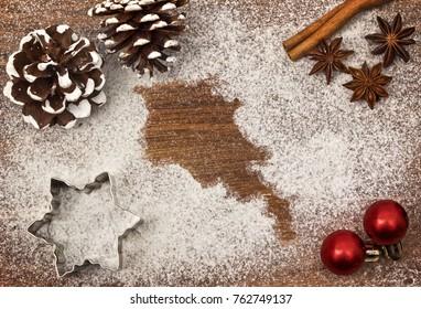 Festive motif of flour in the shape of Armenia (series)