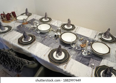 The festive table is waiting for the guests