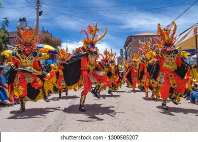 Festivity of the Virgin of the Candelaria, dancing devils. February 10, 2010, Puno - Peru.
