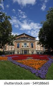 Festspielhaus Bayreuth in Bayern, Bavaria, composer, Richard Wagner, opera, operahouse, germany