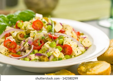 Feta olives salad