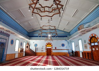 Fethiye Mosque, Kars / Turkey -  01/22/2016: The view of the interior of the mosque. Fethiye Mosque which had been built as a church (Aleksandr Nevski Church) is one of the symbols of Kars city.