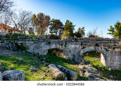 Fethiye, Mugla - Turkey. January 30, 2018. The Ruins of Tlos Ancient City,  Turkey