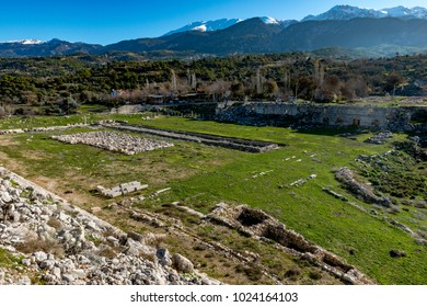 Fethiye, Mugla - Turkey. January 30, 2018. The Ruins of Tlos Ancient City,  Turkey