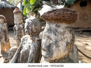 Fetish in Lobi village, in which there is animistic cult