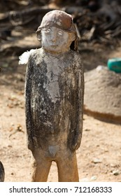 fetish used to protect Lobi village, Burkina faso