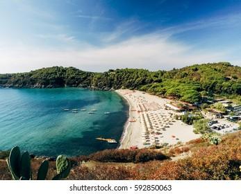 Fetovaia beach on Elba island, Tuscany, Italy