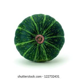 fetus green pumpkin (Latin Cucurbita)
