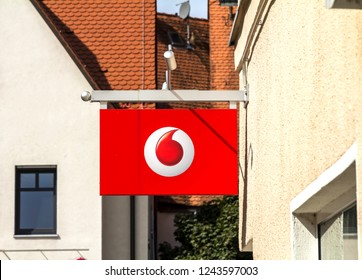 Feucht, Germany, 9 SEP 2018: Vodafone Store - Vodafone is a British multinational telecommunications company and It is the one of the world's largest mobile telecommunications company.